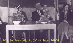 1954 40 ambtsjubileum adj dir JC de Jager 003T